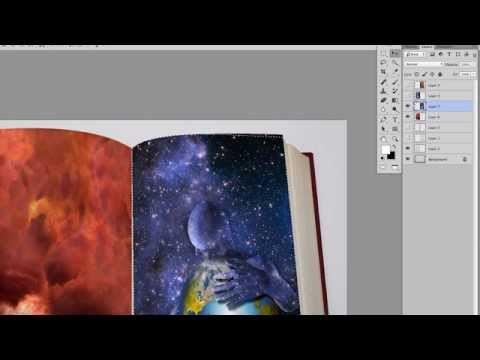 Photoshop Tutorial - How to Make Your Images Look Like Pages In A Book (Part 2 of 2)