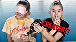 VANESSA CHEATS AGAIN! .... Blindfolded Slime Challenge | Taylor & Vanessa