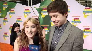 Taylor Spreitler & Nick Robinson 2011 Kids' Choice Awards Interview