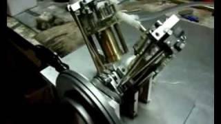 moteur miniature bicylindre en V a 60°