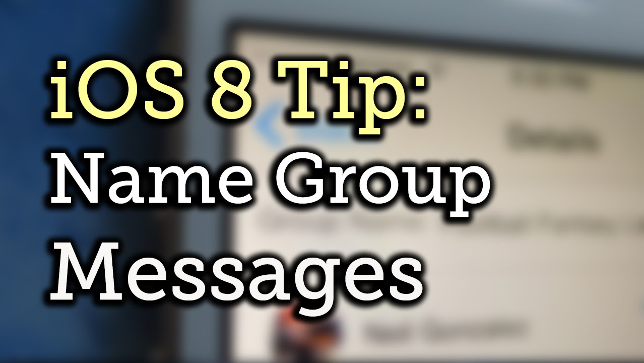Can you name a group text on iphone 7