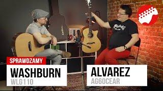Gitary akustyczne: Washburn WLG110 vs Alvarez AG60CEAR