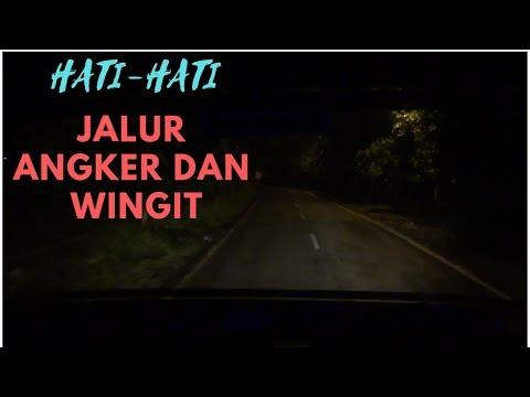 Bus PO Haryanto Nanjak Alas Roban Malam Hari