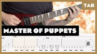 Master of Puppets Metallica Cover | Guitar Tab | Lesson | Tutorial