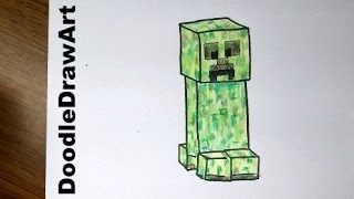 Drawing: How To Draw a Minecraft Creeper - Super Easy - Step by Step easiest way