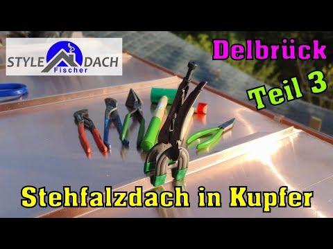 Kupfer Stehfalzdeckung in Delbrück - Paderborn - Bielefeld - Nordrhein-Westfalen