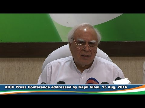 AICC Press Conference, 13 Aug 2016