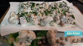 Nohutlu Kızarmış Karnabahar Salatası Tarifi - Hülya Ketenci - Salata Tarifleri