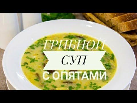 Как варить суп с опятами свежими