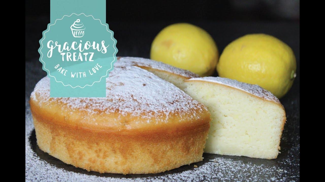 Lemon Sponge Cake Eggless How To Do Video Youtube