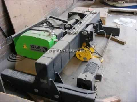 10 TON STAHL OVERHEAD BRIDGE CRANE HOIST FOR SALE