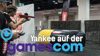YadGC #04 Action: Yankee im Lasergame erschossen!? GamesCom 2015 Tag 1
