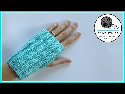 Knit Look Crochet Fingerless Gloves Tutorial