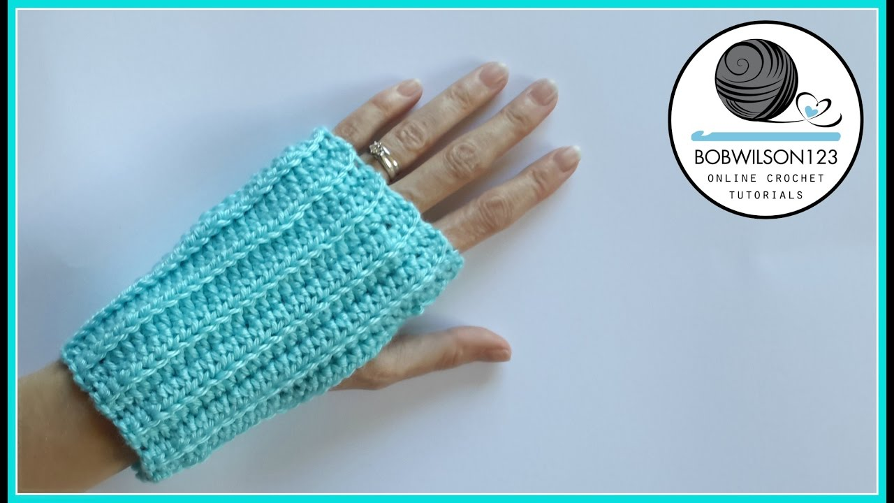 knit look crochet fingerless gloves tutorial doovi