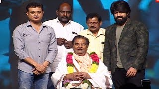 KGF Movie Team Felicitates Kaikala Satyanarayana @ KGF Pre Release Event