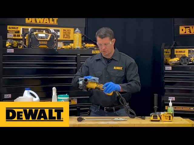 DEWALT® Product Guide - How To Clean Your Tools