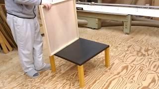 デスクの天板リメイク方法、丸ごと被せるメラミン化粧板天板 thumbnail