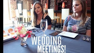 MORE WEDDING MEETINGS! FLORIST & FOOD TASTING! | Casey Holmes