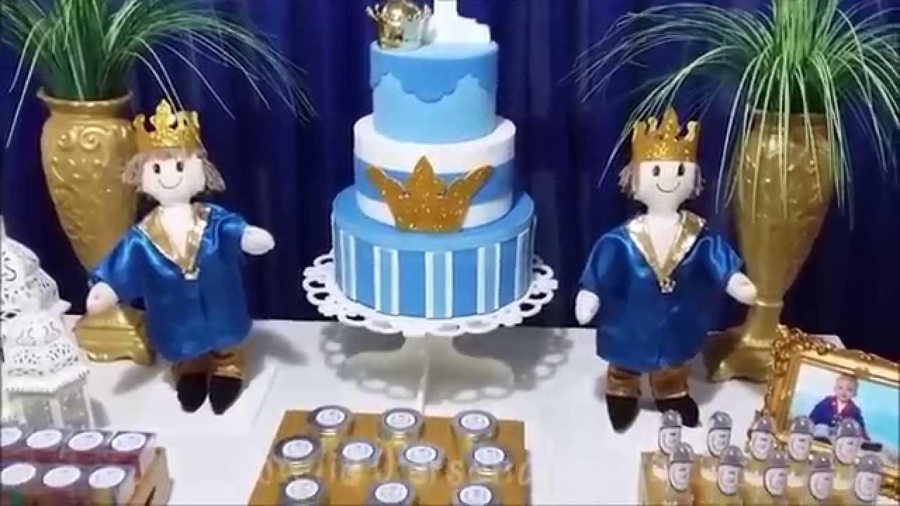 Decoração de festa infantil Príncipe - YouTube