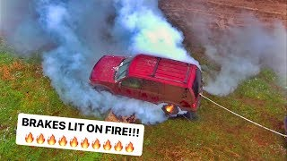 LONGEST Ford Explorer Burnout! EXPLODED!!!