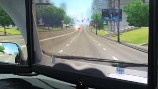 Вождение на автотренажере в городских условиях