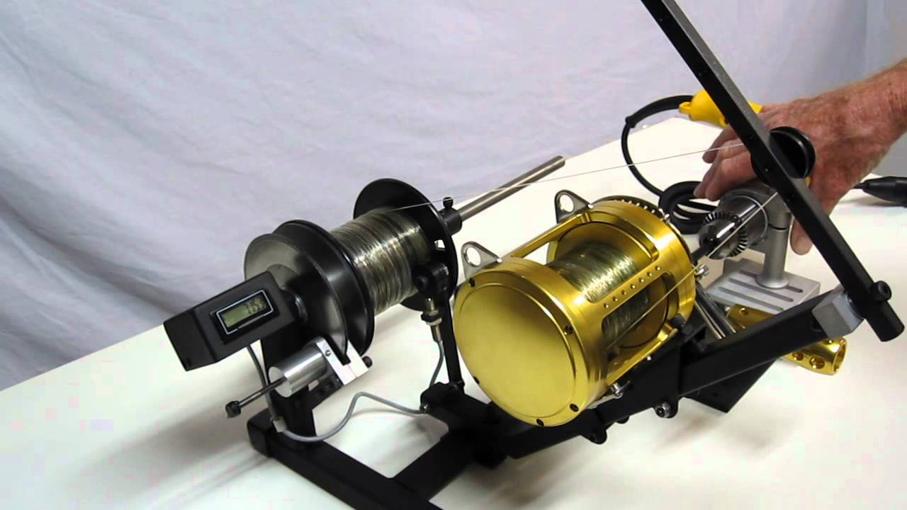 Line spooler motorized with disk brake youtube for Fishing line winder