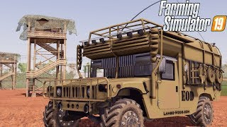 EXPANDING MILITARY BASE + HUMVEE OFF-ROADING | FARMING SIMULATOR 2019
