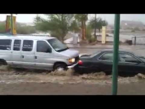 Longer Raw Version of Big Monsoon Rain and Flash Floods in Lake Havasu City 7/13/2012