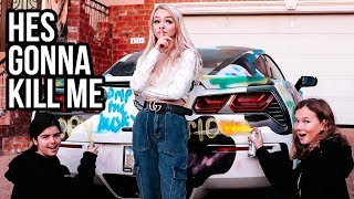 I SPRAY PAINTED MY BOYFRIENDS $100,000 CAR! l Zoe Laverne