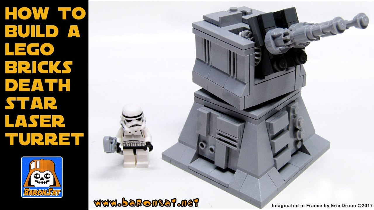 Lego Custom Death Star Laser Turret Building Instructions Moc Youtube