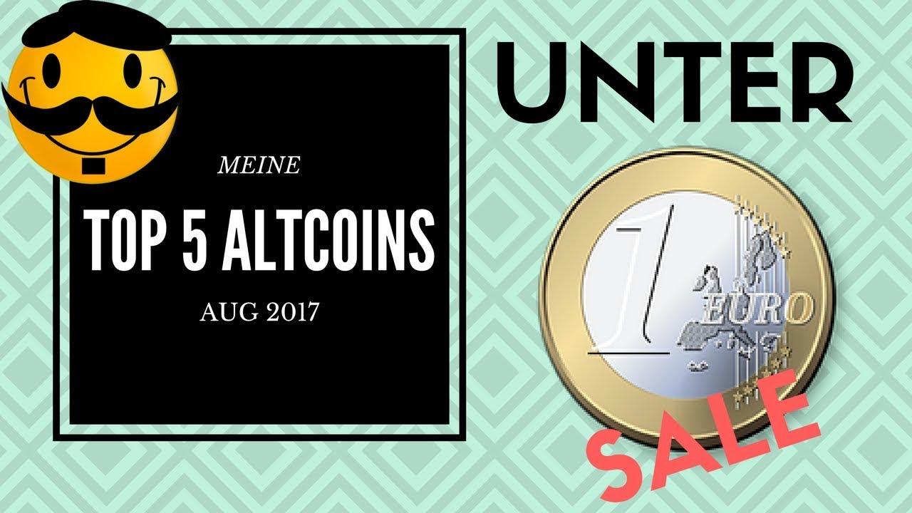 Meine TOP 5 Altcoins UNTER 1 EURO Kaufen