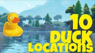ALL RUBBER DUCKS IN FORTNITE! -