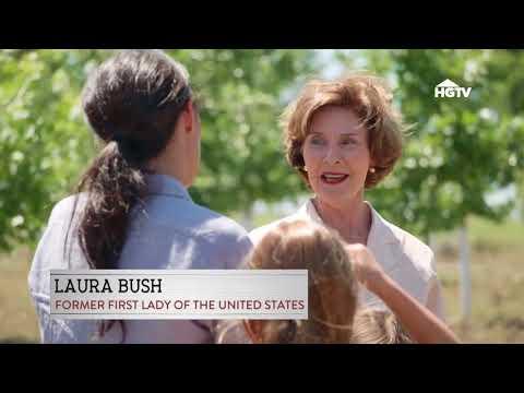 Laura Bush   appears on HGTV