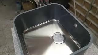 Кам'яна мийка. Процес виготовлення кам'яної мийки з металевим дном. Інструкція від А до Я