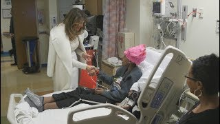 First Lady Melania Trump Visits Children's National