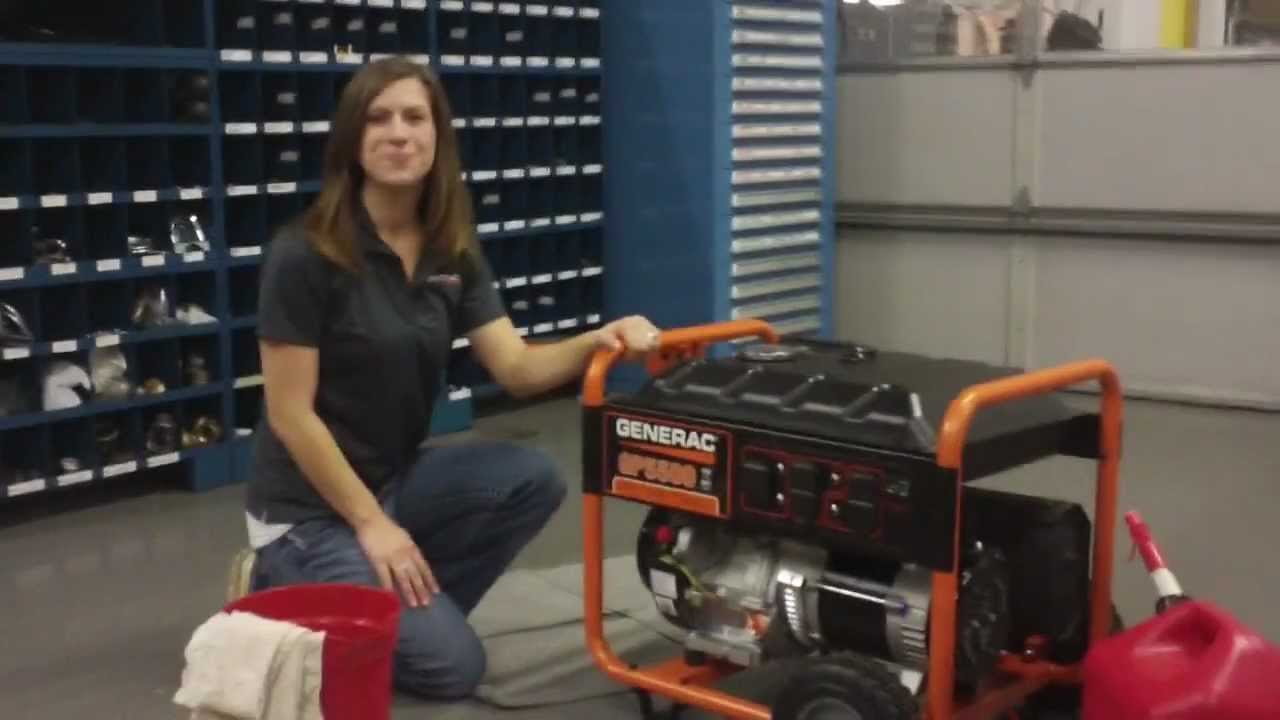 Troubleshooting a Generac Portable Generator with Stale Gasoline  YouTube