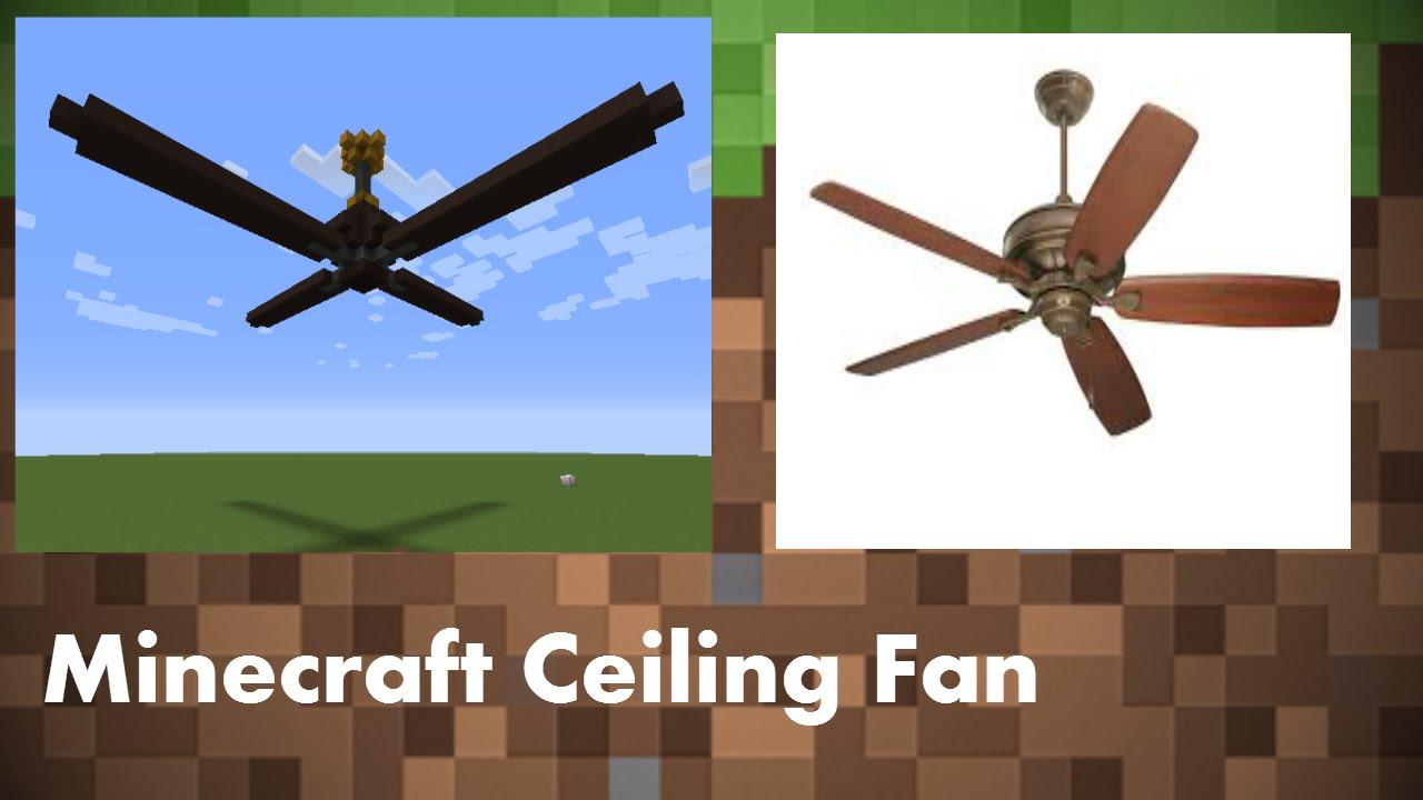 Minecraft: Ceiling Fan - YouTube