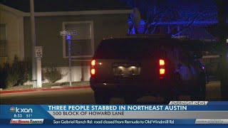 Three stabbed at northeast Austin mobile home park