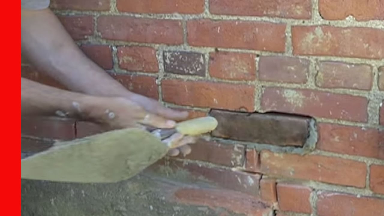 Cut And Plug Brick Replacement Youtube