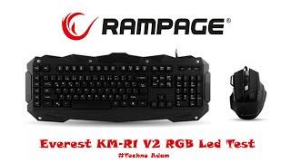 Everest KM-R1 V2 RGB Led Test