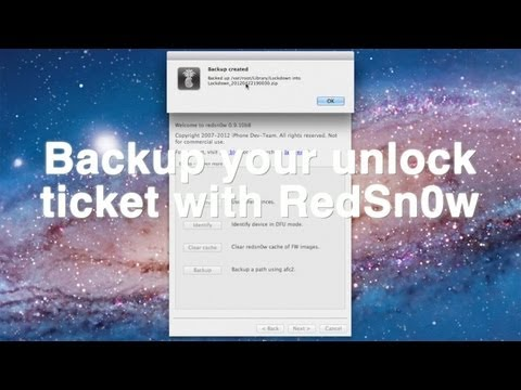 How to backup your iPhone's activation ticket using RedSn0w