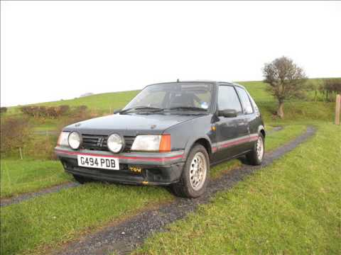 205 mi16 road rally car for sale - YouTube