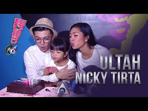 Nicky Tirta Ultah ke-34, Ini Surprise dari Istri dan Anak - Cumicam 28 April 2017
