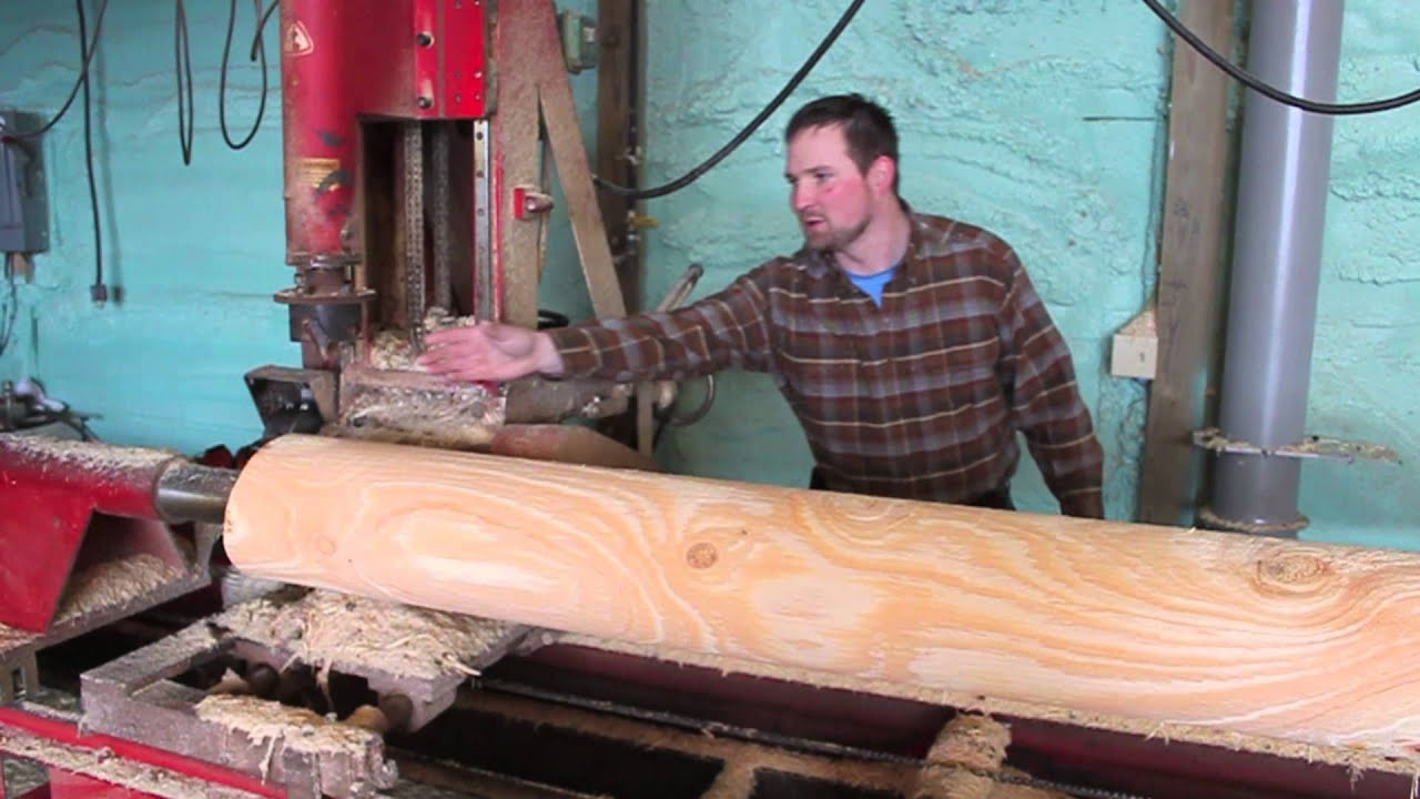 Northern Log Supply Log Lathe - YouTube