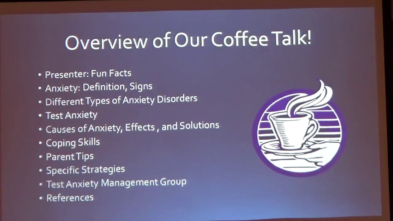 Parent Coffee Talk: Anxiety and Coping Skills - YouTube