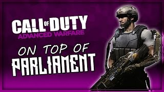 Advanced Warfare Parliament Glitch! (On Top of the Map)