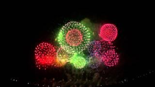 赤川花火大会 2014.8.16 エンディング 打上げ:伊那火工堀内煙火店 音声はメイン会場にいたsironekomilkさんに頂きました。