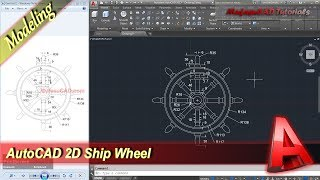 Autocad Tutorial 2D Modeling Ship Wheel Practice Exercise 21