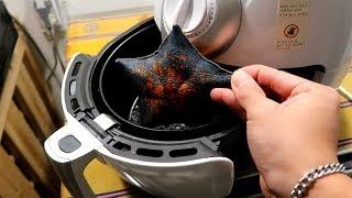 불가사리를 에어프라이기에 넣어서 먹어보자! Starfish Airfryer