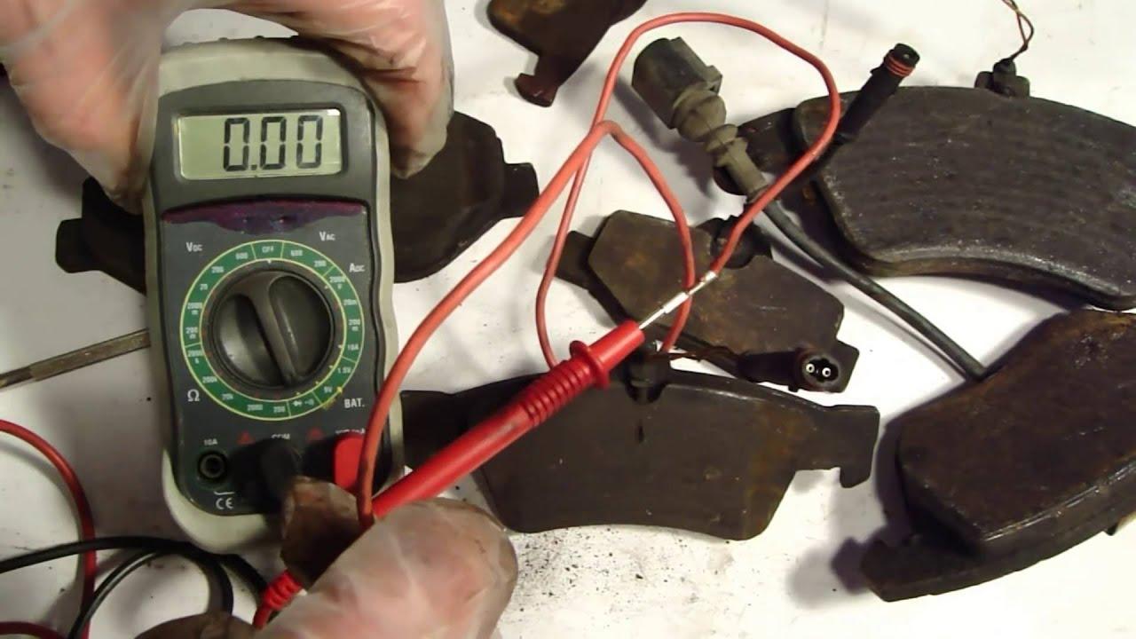 how works brake pad warning sensor